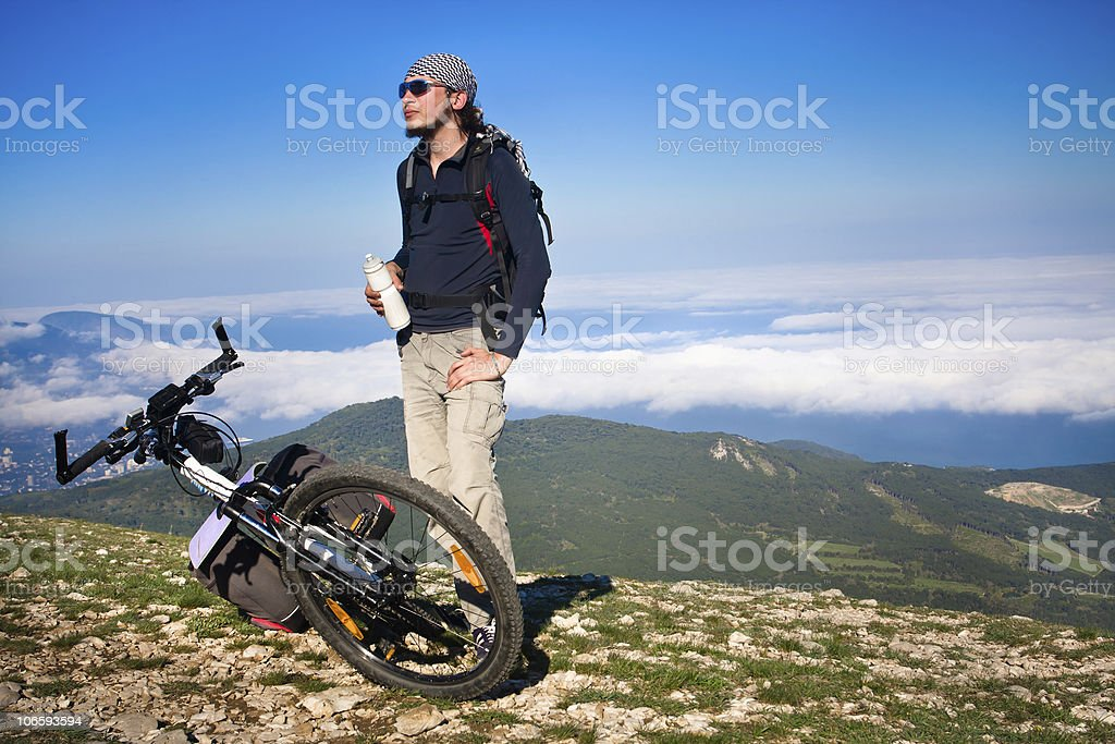 Man resting royalty-free stock photo
