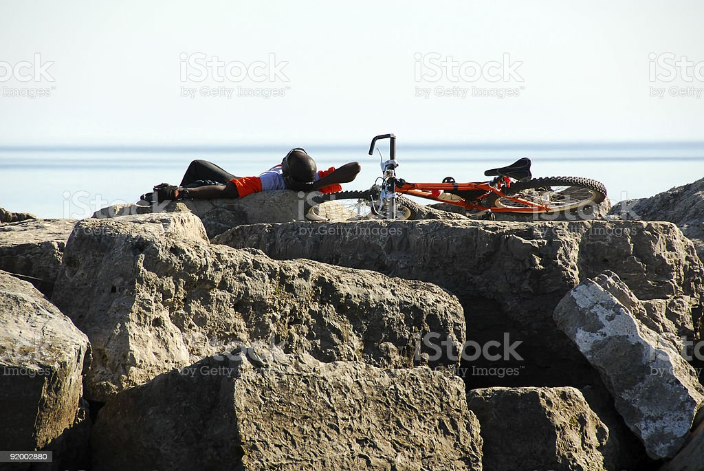 Man resting royalty-free stock photo