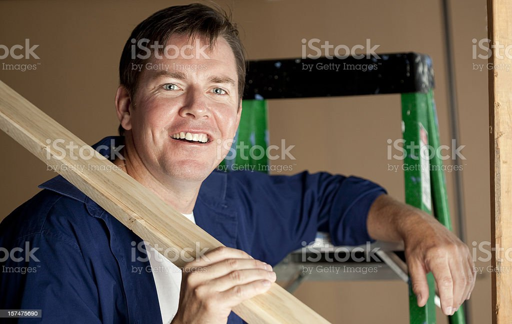 Man Resting with Lumber royalty-free stock photo