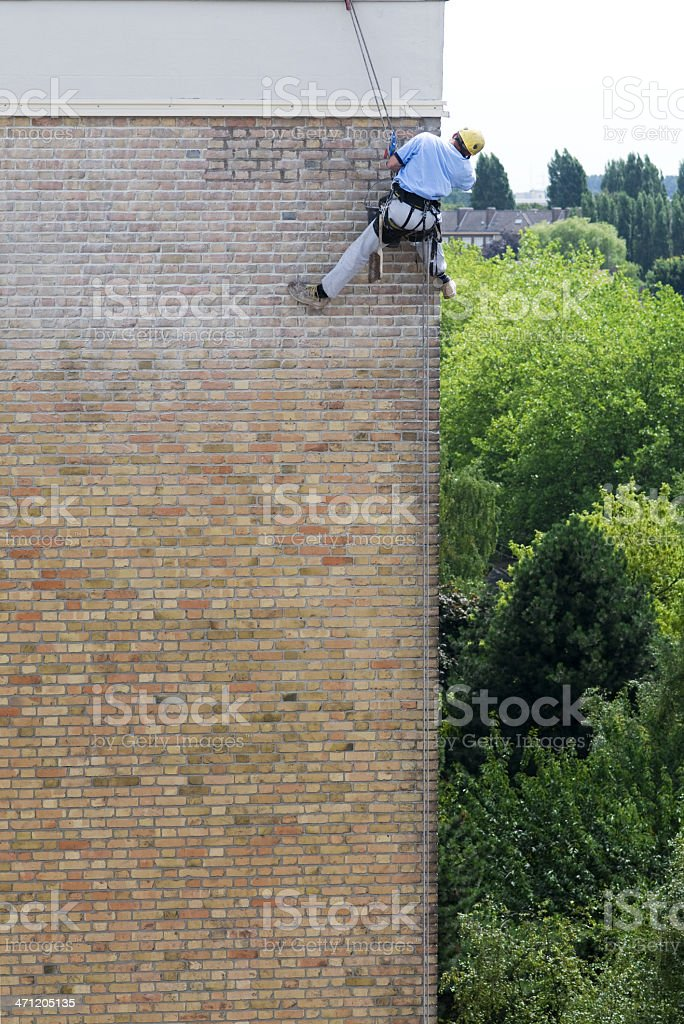 Man restoring the house royalty-free stock photo