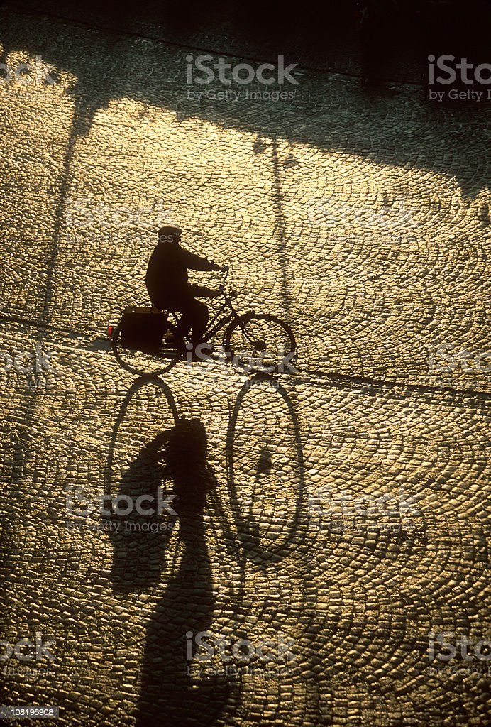 Man Riding Bike royalty-free stock photo