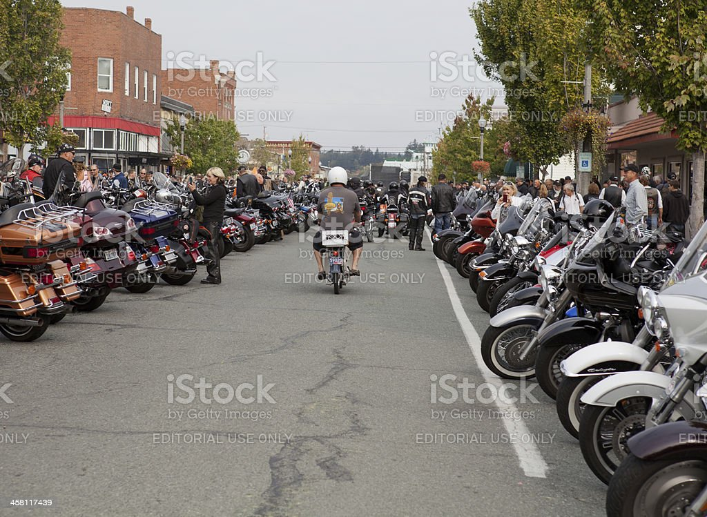 Man Riding Moped at Oyster Run 9-23-12 stock photo