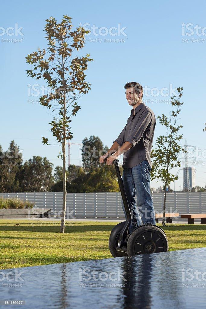 Man riding on segway. royalty-free stock photo