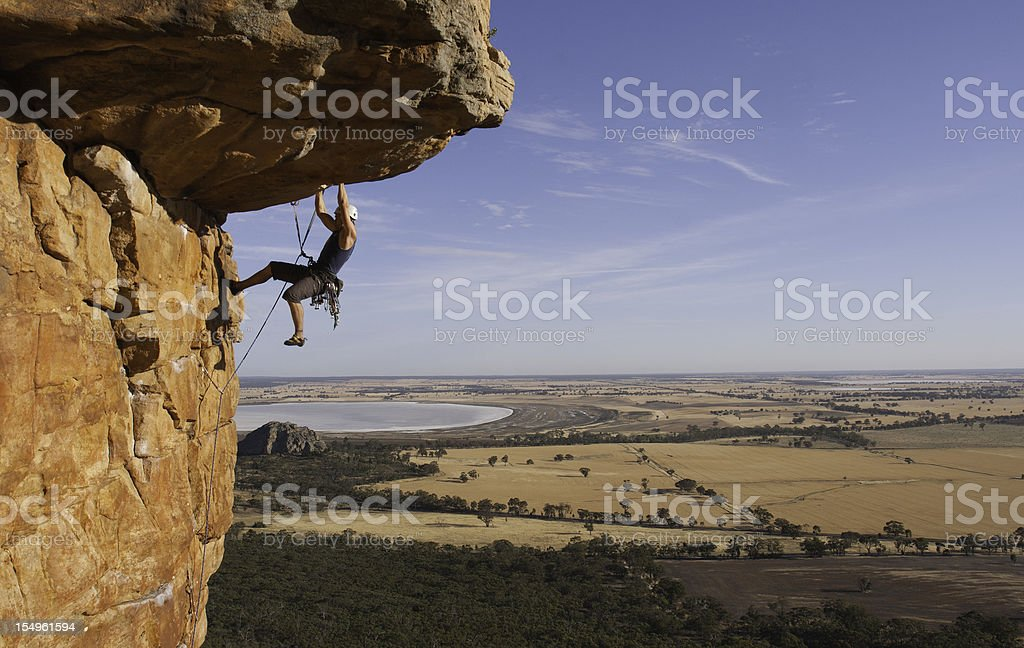 Man rockclimbing royalty-free stock photo