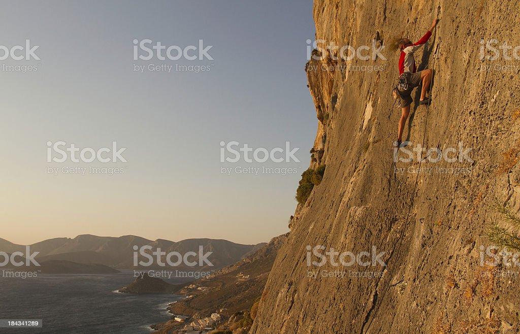Man rockclimbing royalty-free stock photo
