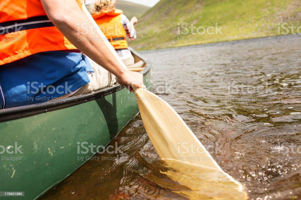 Man Rowing Boat stock photo