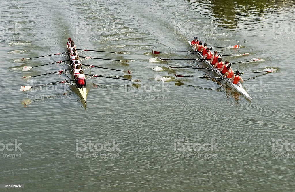 8 Man Rowing Race - Competition stock photo