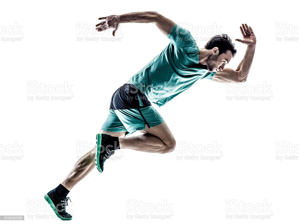 man runner jogger running  isolated royalty-free stock photo