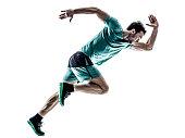 man runner jogger running  isolated