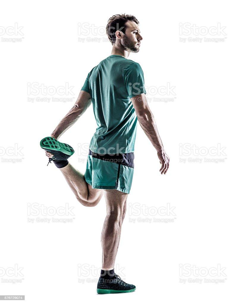 man runner jogger running  isolated stock photo