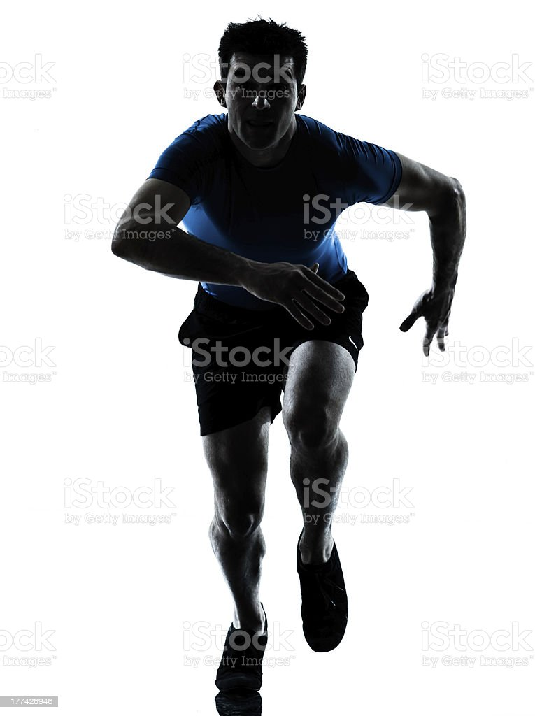 man runner running sprinter sprinting royalty-free stock photo