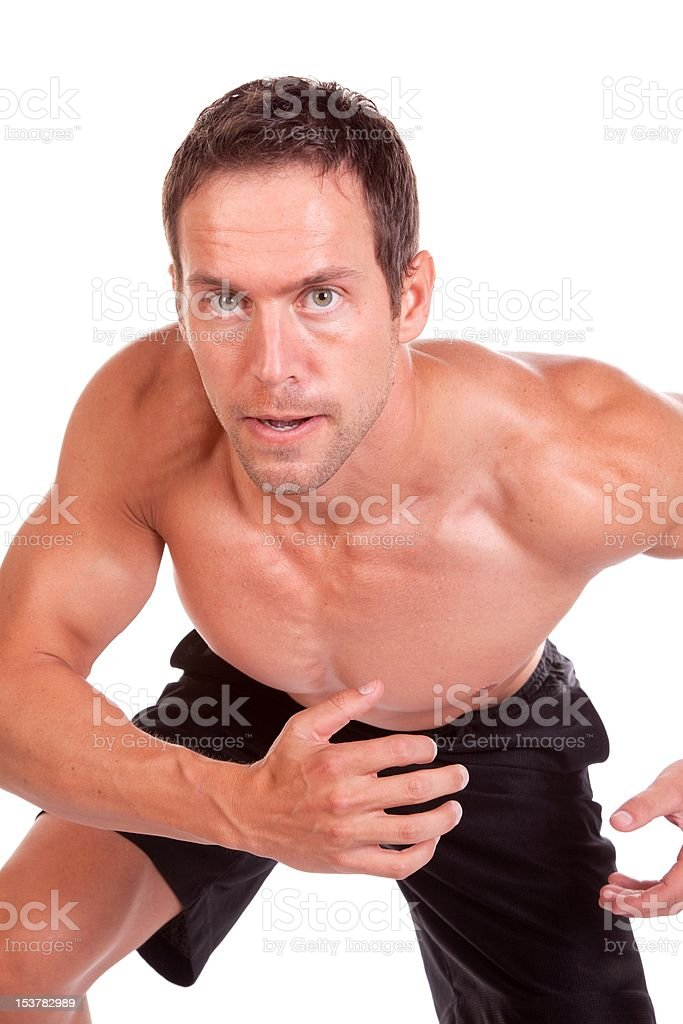 Man running close up royalty-free stock photo