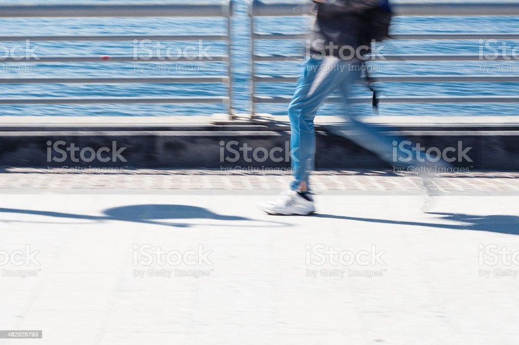 Man running royalty-free stock photo