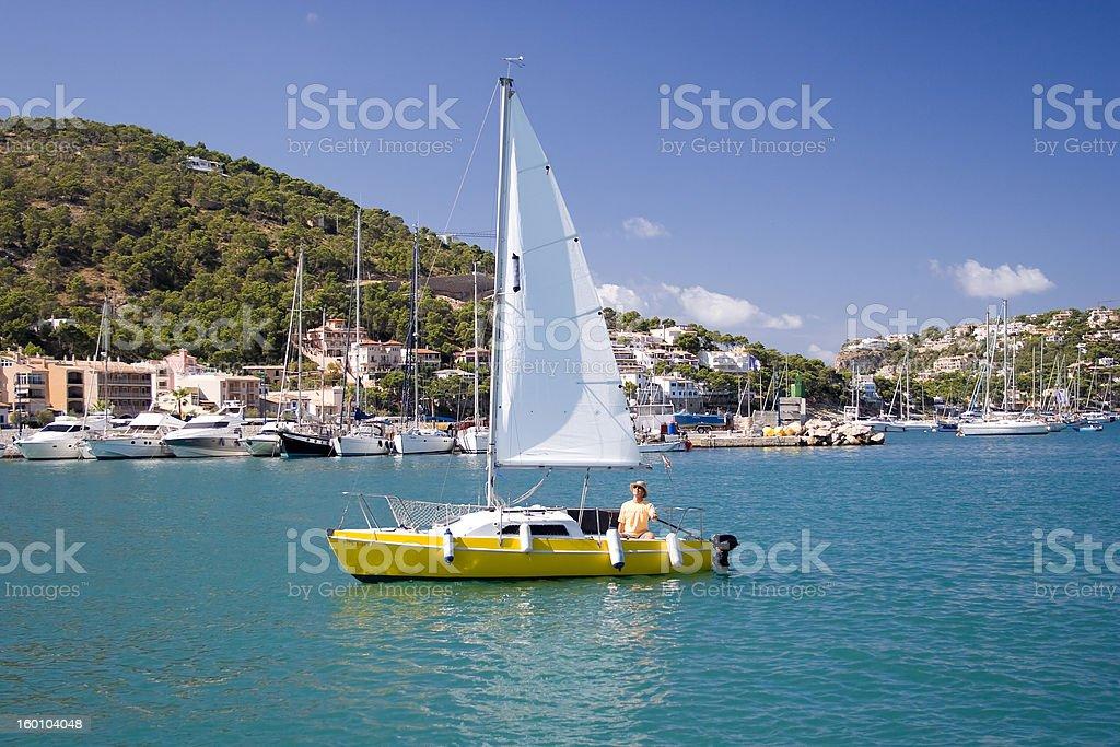 Man sailing. royalty-free stock photo