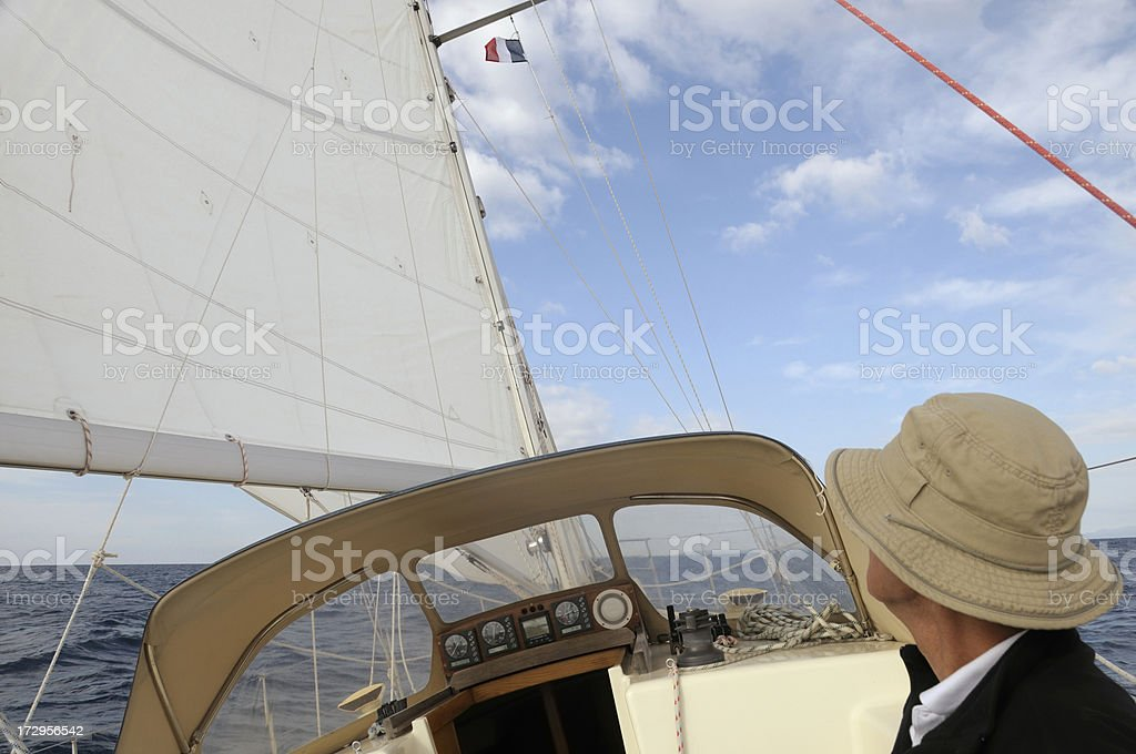 Man sailing royalty-free stock photo