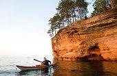 Man Sea Kayaking