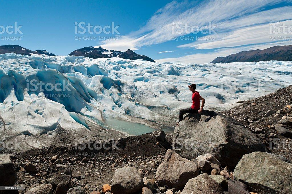 Man seaching stock photo