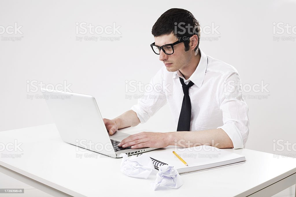 Man Searching For Inspiration royalty-free stock photo