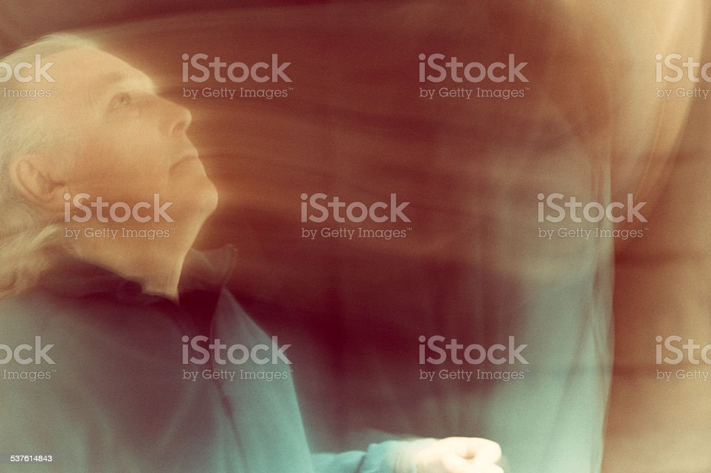 Man seeing visions stock photo