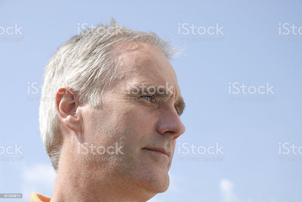 man serious looking royalty-free stock photo