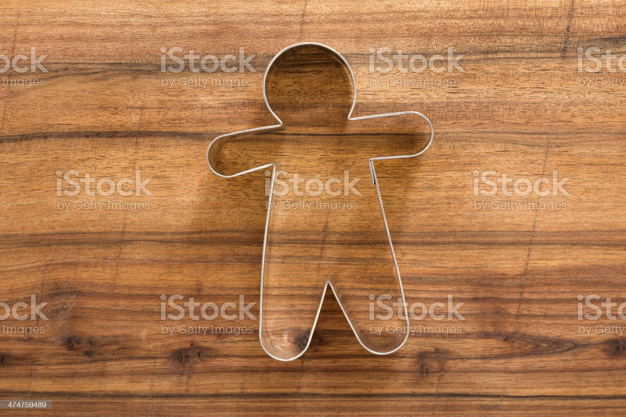 Man shaped cookie cutter royalty-free stock photo