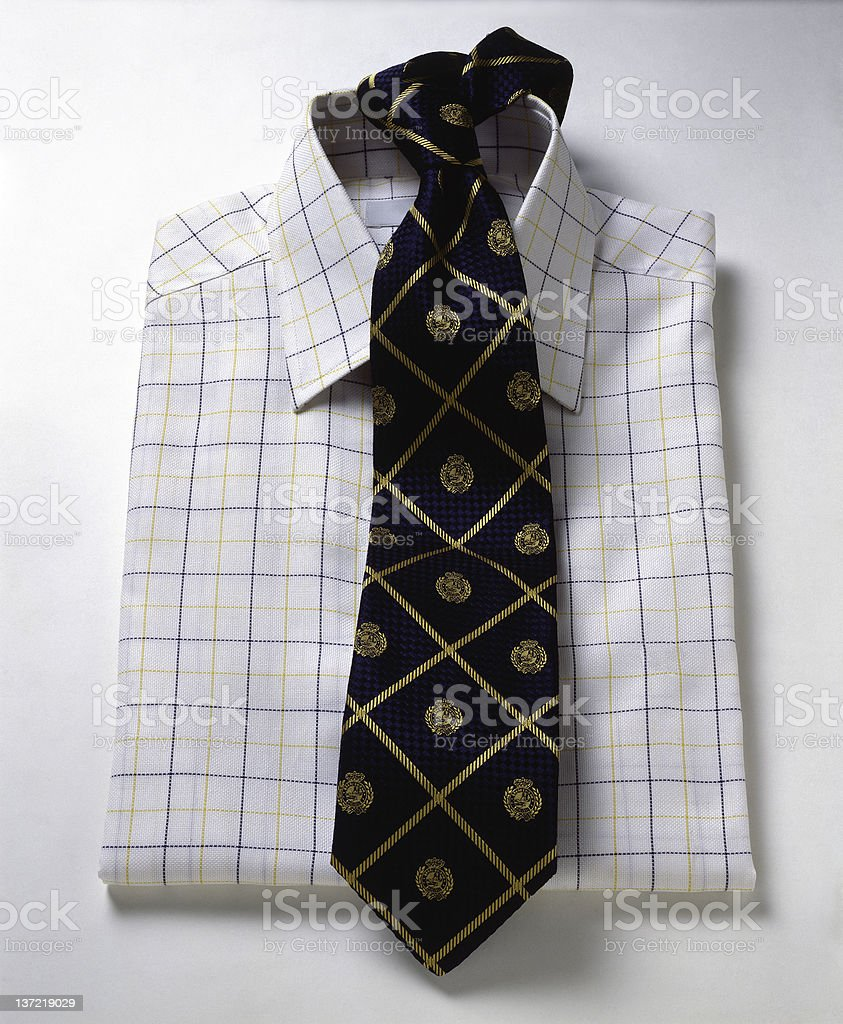 Man Shirt And Tie stock photo