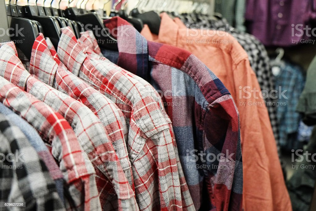 Man Shirts for Sale stock photo