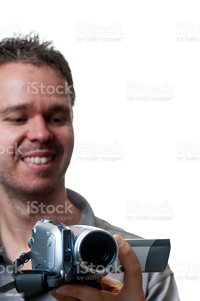 Man shooting with a video camera royalty-free stock photo