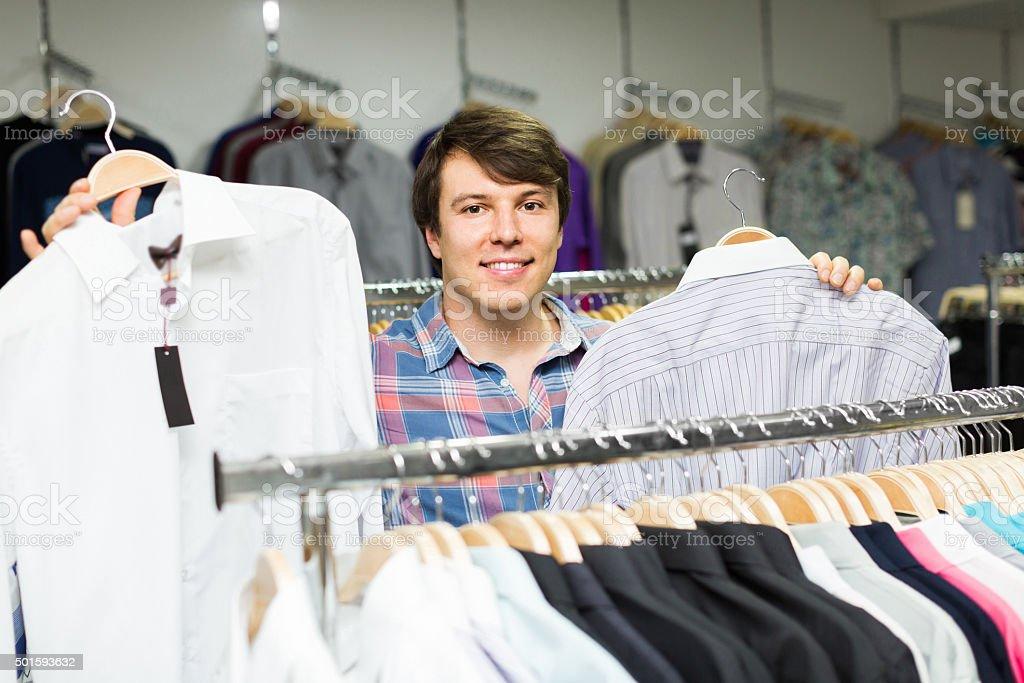 man shopping at store stock photo