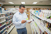 Man shopping at the pharmacy