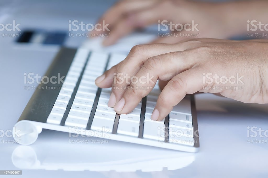 Man shopping online royalty-free stock photo