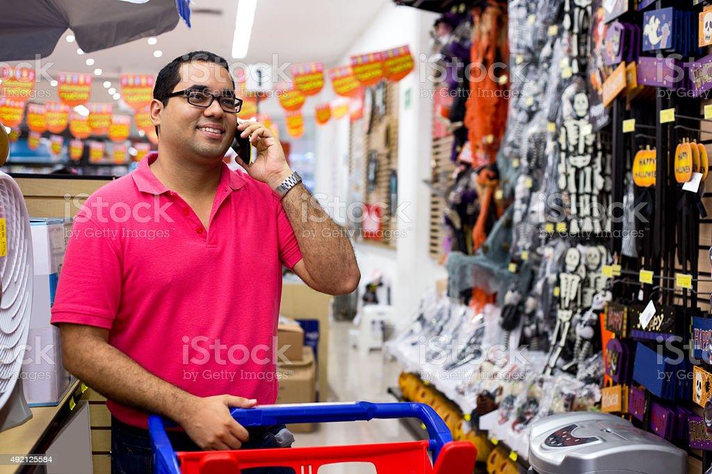 man shopping royalty-free stock photo
