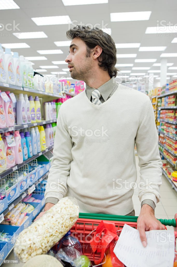 Man shopping stock photo
