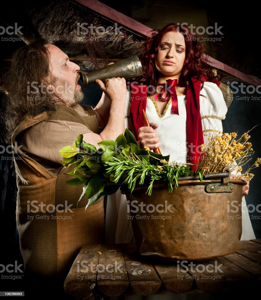 Man shouting a young woman royalty-free stock photo