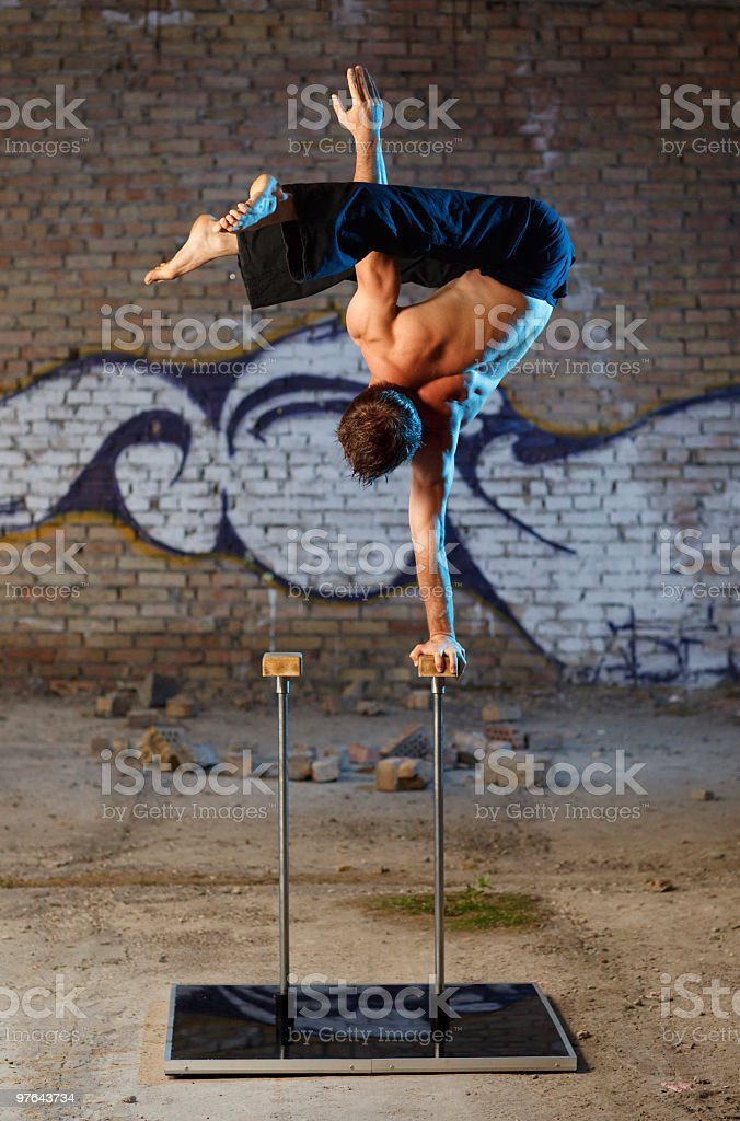 Man show his performance royalty-free stock photo