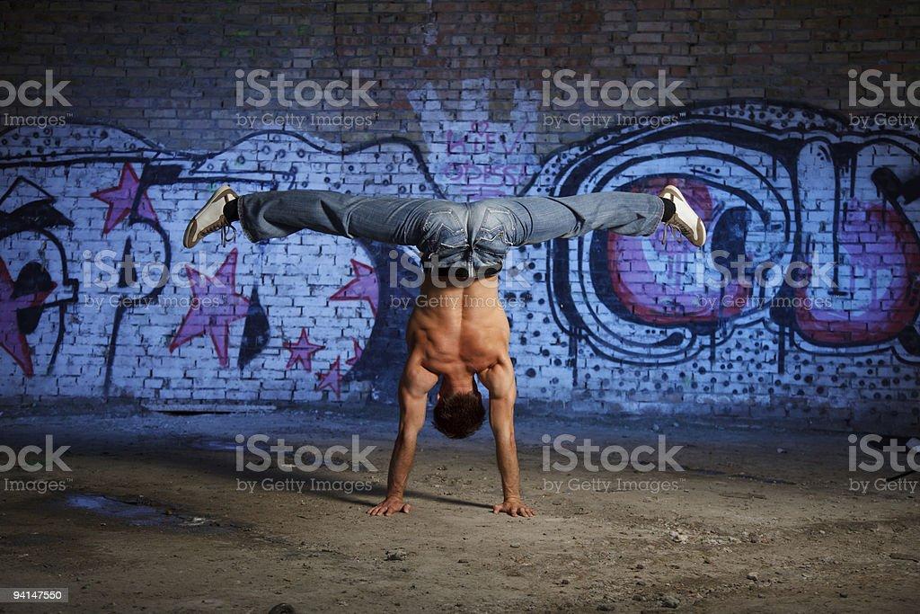 Man show performance stock photo