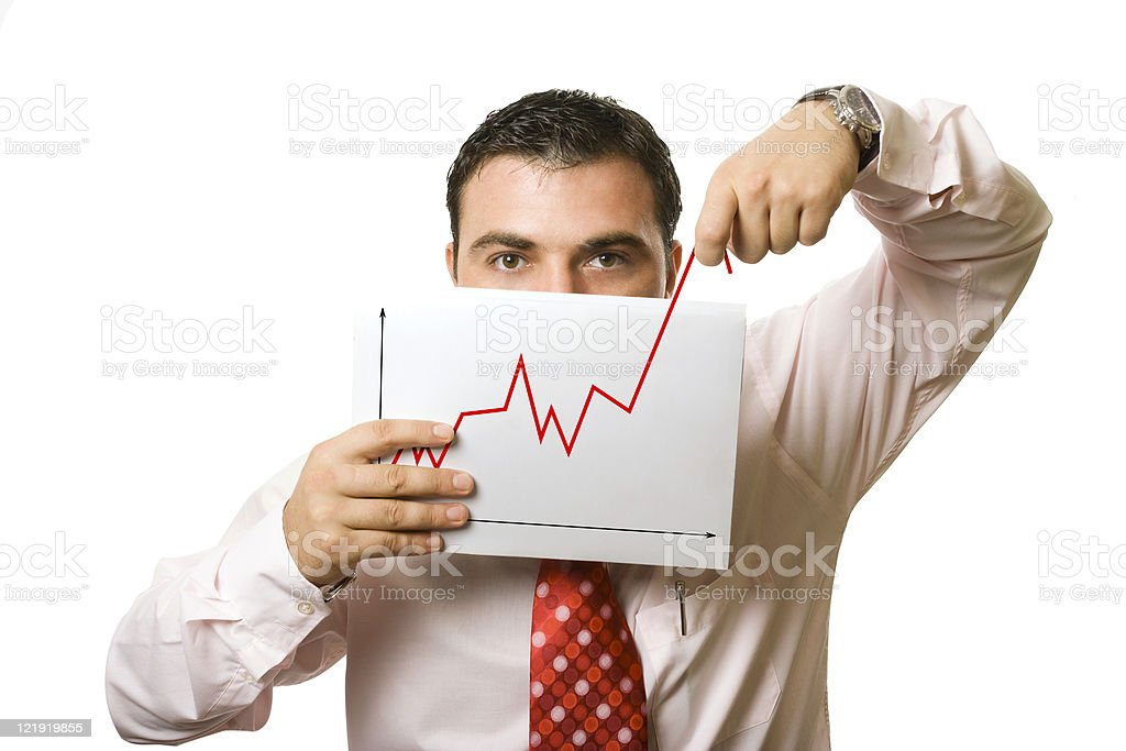 man showing false progress royalty-free stock photo