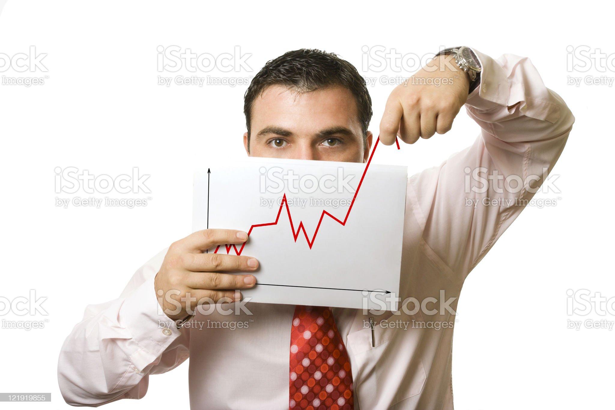 man showing false progress royalty-free stock photo