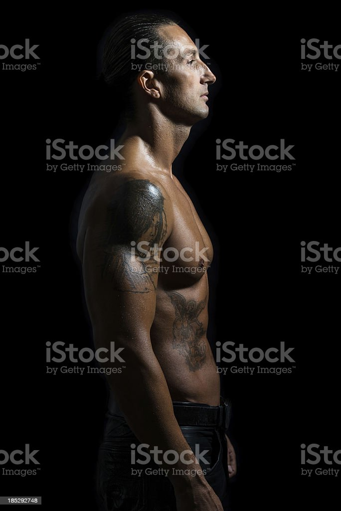 Man Showing Off royalty-free stock photo