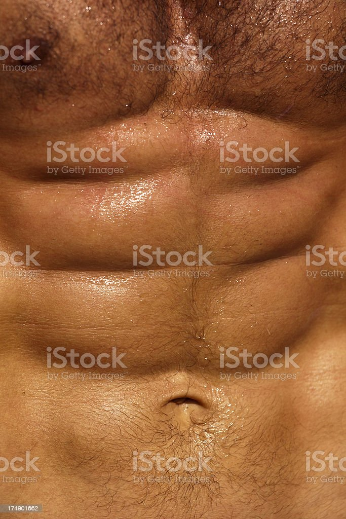 Man Showing Six Pack royalty-free stock photo