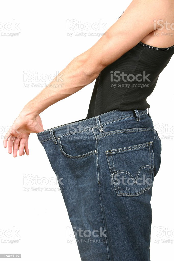 Lost a lot of weight stock photo