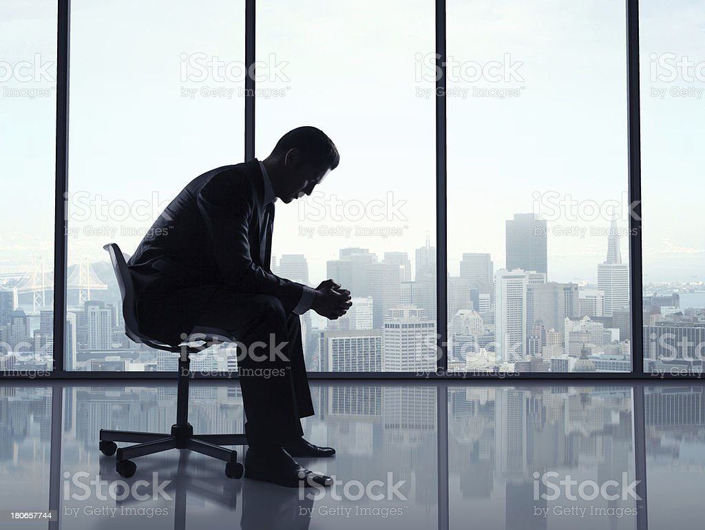 man sitting office royalty-free stock photo