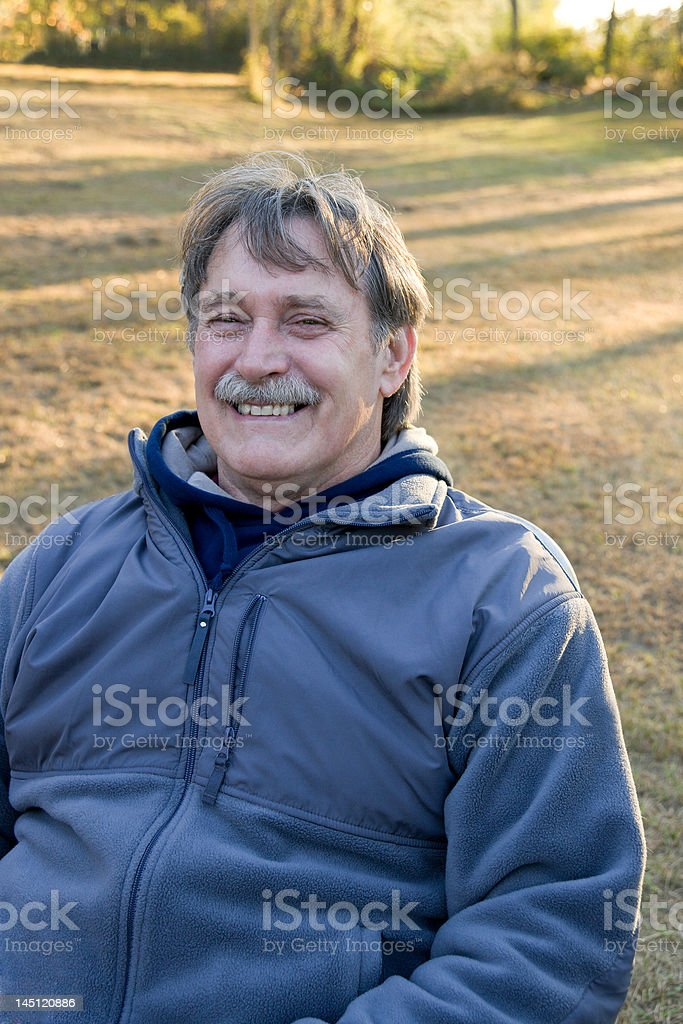 Man Sitting Outside royalty-free stock photo