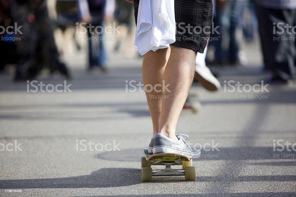 Man skateboarding royalty-free stock photo