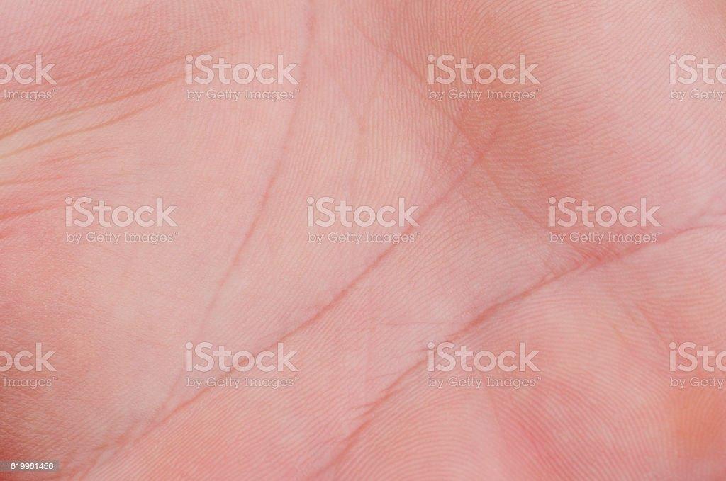 Man skin palm stock photo