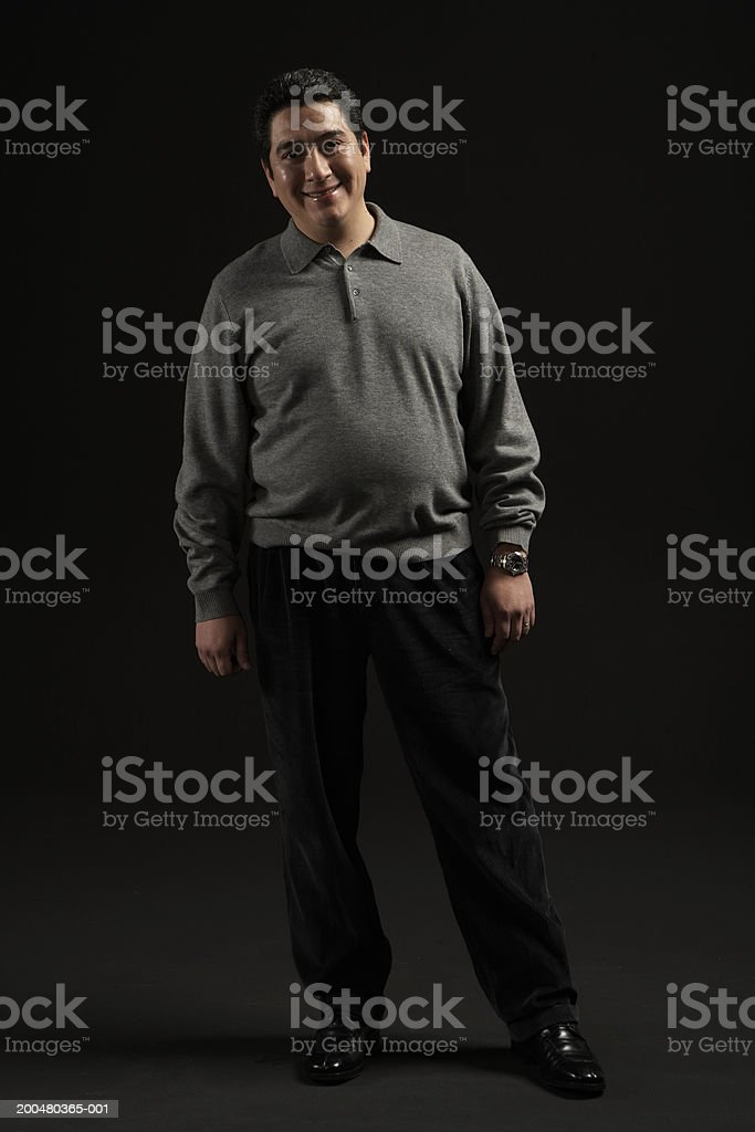 Man smiling, portrait stock photo