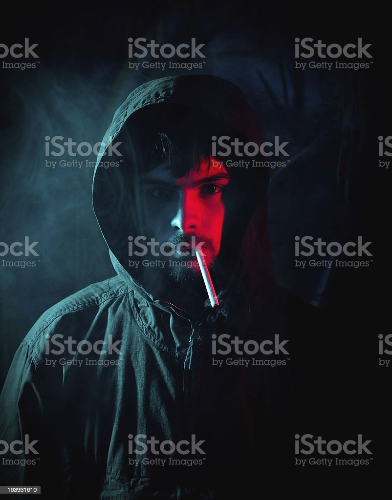 Man smoking royalty-free stock photo