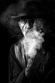 Man smoking the pipe