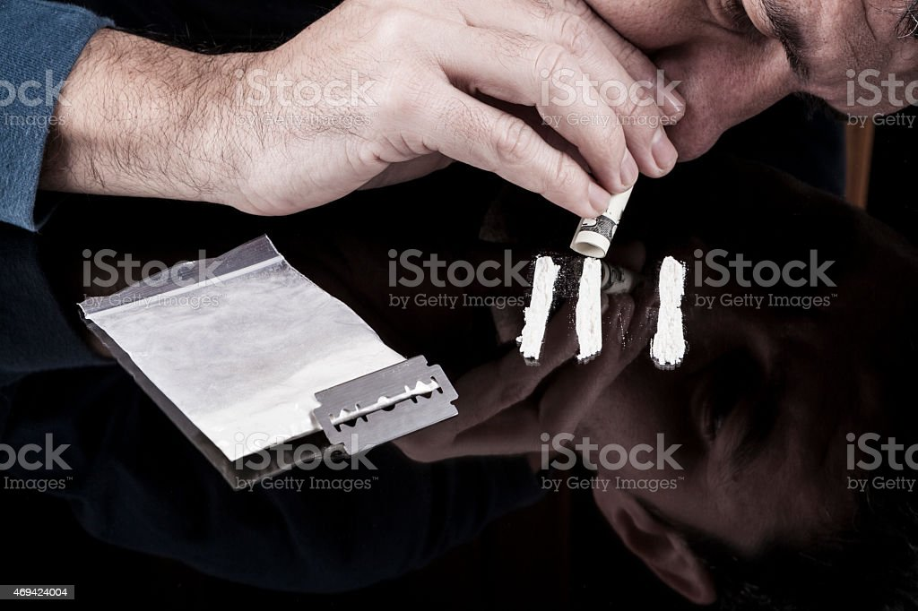 Man Snorting stock photo