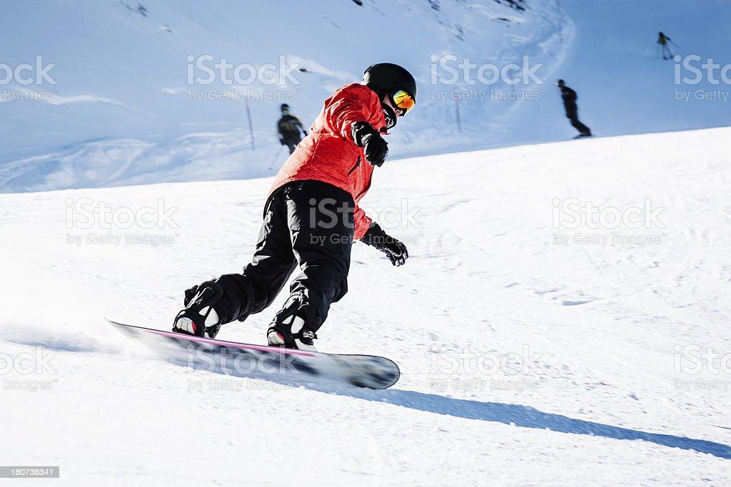 Man snowboarding royalty-free stock photo